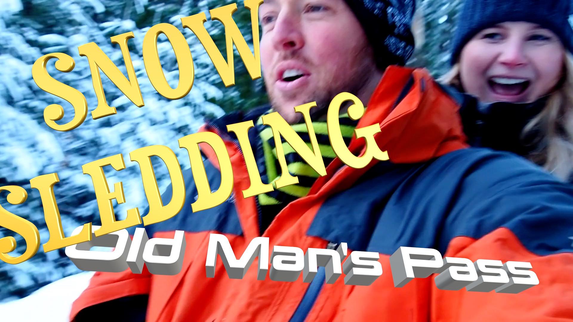 Snow Sledding at Old Man's Pass